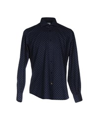 Mazzarelli Shirts Dark Blue