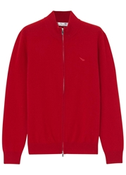 Jet 8 Red Cashmere Cardigan