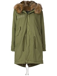 Mr And Mrs Italy Fur Trim Parka Green