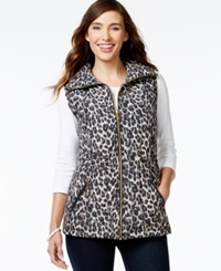 Jm Collection Quilted Leopard Print Vest Only At Macy's Safari Leopard