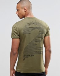 Friend Or Faux Frequency T Shirt Back Print Green