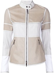 Callens Panelled Zipper Jacket Nude And Neutrals