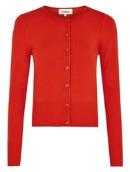 Louche Heyzell Heart Button Cardigan Red