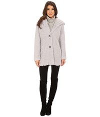Jessica Simpson Hooded Faux Fur Pewter Women's Clothing