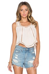 Greylin Charlotte Cropped Top Ivory