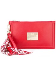 Love Moschino Scarf Detail Clutch Red