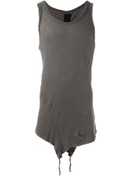 Thom Krom Raw Edge Tank Top Grey