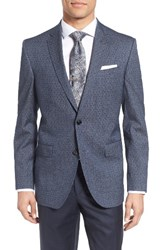 Ted Baker Men's London Trim Fit Print Wool And Cotton Sport Coat
