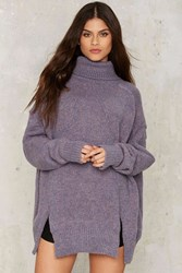 Noctural Me Turtleneck Sweater Purple