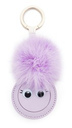 Kate Spade Mirror Monster Pig Key Fob Blue Violet