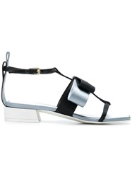Lanvin Square Shaped Toe Sandals Black