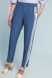 Anthropologie Petra Striped Track Pants Sky