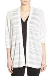 Trouve Lightweight Open Cardigan White