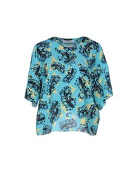 Viktor And Rolf Shirts Blouses Women Turquoise