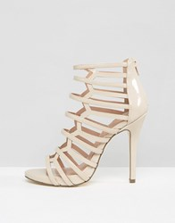 Call It Spring Astausien Cut Out Heeled Sandals Bone Beige