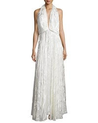 Camilla And Marc Sleeveless Burnout Flowy Gown Women's Creme Burnout