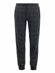 Current Elliott The Slim Vintage Plaid Track Pants