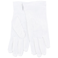 John Lewis Cotton Dress Gloves One Size White