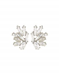 Lydell Nyc Marquise Crystal Stud Earrings