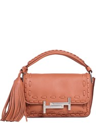 Tod's Small Double T Woven Leather Bag