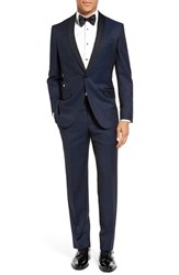 Ted Baker Men's London 'Josh' Trim Fit Navy Shawl Lapel Tuxedo