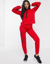Influence Slim Leg Joggers Red
