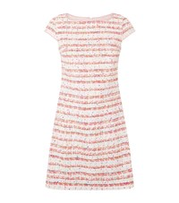 Boutique Moschino Striped Tweed Dress Female Pink