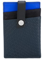 Want Les Essentiels De La Vie Kennedy Money Clip Wallet Men Leather Metal One Size Blue