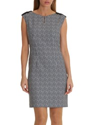 Betty And Co. Gingham Shift Dress Black White