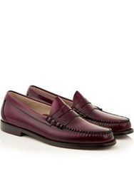 Bass Wejuns Larson Moc Penny Loafers Wine Burgundy