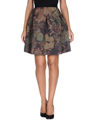 Essentiel Knee Length Skirts Military Green