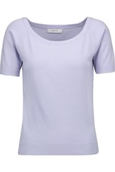 Milly Stretch Knit Top Lavender