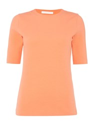 Hugo Boss Shortsleeve Jersey Top With Crew Neck Red