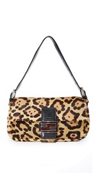 Wgaca Fendi Leopard Pony Baguette Bag Previously Owned