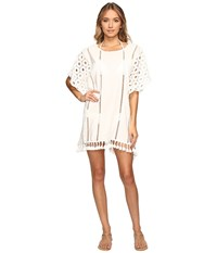 Seafolly Broderie Beach Lace Kaftan Cover Up Milk Women's Swimwear White