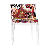 Kartell Mademoiselle 'A La Mode' Transparent Chair Vevey Red Tones