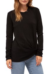 Stateside Twist Front Fleece Sweatshirt Black