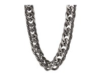 Steve Madden Burnished Stainless Steel 26 Flat Curb Chain Necklace Silver Necklace