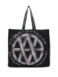 Vyner Articles Distressed Canvas Tote Black