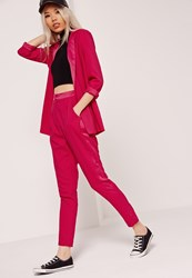 Missguided Cigarette Suit Trousers Pink