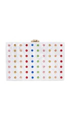 Milly Rhinestone Box Clutch Multi