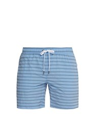 Onia Charles Striped Swim Shorts Blue