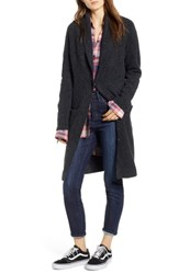 Treasure And Bond Belted Long Cardigan Grey Dark Charcoal Heather