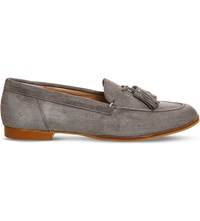 Office Petra Tassel Loafer Grey Suede