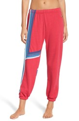 Aviator Nation Blaze 4 Sweatpants Rose Blue Stripes