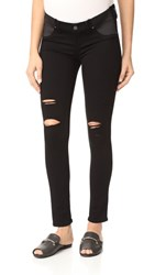 Paige Maternity Verdugo Ultra Skinny Jeans Black Shadow Destructed