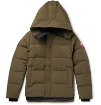 Canada Goose Macmillan Quilted Shell Hooded Down Parka Green