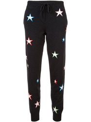 Chinti And Parker Star Knit Track Pants Black