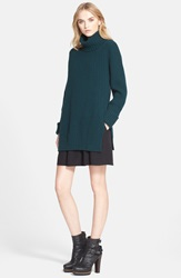 Belstaff 'Eliora' Wool And Cashmere Turtleneck Sweater Racing Green