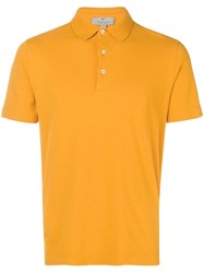 Canali Slim Fit Polo Shirt Yellow